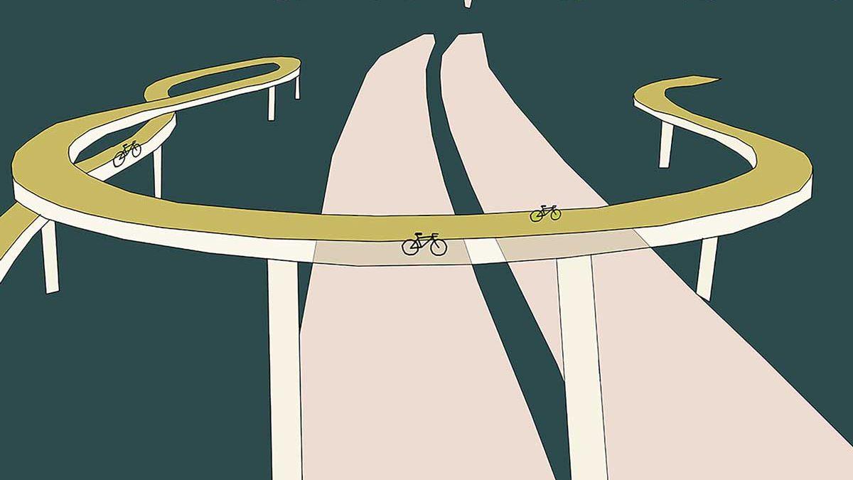 Illustration of the SkyCycle by Kate Kilpatrick-Galbraith V WOLFE