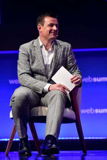 7 November 2019; Mark Russell, Managing Editor, British Vogue, on Modum Stage during the final day of Web Summit 2019 at the Altice Arena in Lisbon, Portugal. Photo by Piaras Ó Mídheach/Web Summit via Sportsfile
